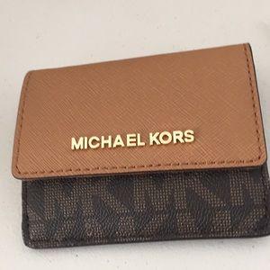 NWT Michael Kors card case Id key holder